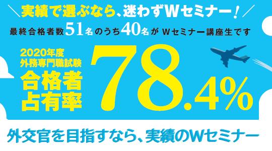 合格者占有率78.4%